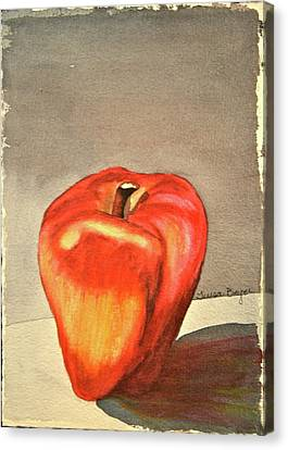 Canvas Print featuring the painting The Apple Of by Teresa Beyer