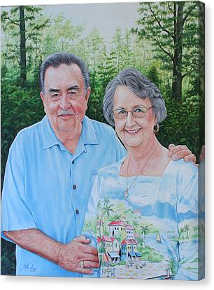 The Armstrongs Canvas Print by Mike Ivey