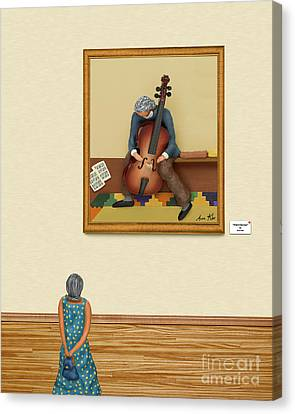 Floor Canvas Print - The Art Critic 2 by Anne Klar