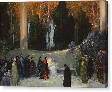 Mystical Landscape Canvas Print - The Audience by TE Mostyn