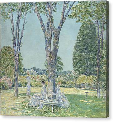 Long Bed Canvas Print - The Audition by Childe Hassam