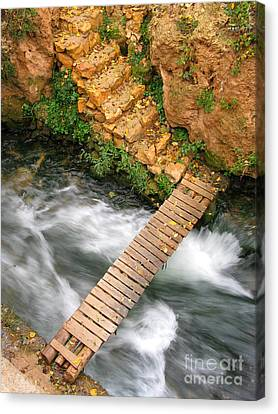 Canvas Print - The Autumn Bridge by Issam Hajjar