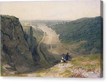 Francis Canvas Print - The Avon Gorge - Looking Over Clifton by Francis Danby