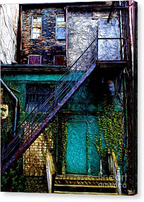 The Back Door Canvas Print by Anne Raczkowski