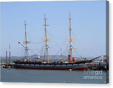 The Balclutha . A 1886 Square Rigged Cargo Ship At The Hyde Street Pier In Sf California . 7d14069 Canvas Print by Wingsdomain Art and Photography