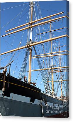The Balclutha . A 1886 Square Rigged Cargo Ship At The Hyde Street Pier In Sf California . 7d14135 Canvas Print by Wingsdomain Art and Photography