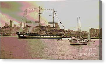 The Balclutha Leaves Pier 41 Canvas Print by Padre Art