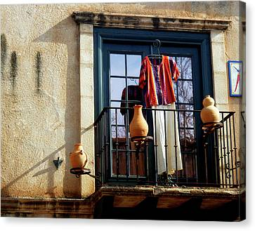 Canvas Print featuring the photograph The Balcony by Helen Haw