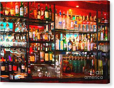 The Bar Canvas Print by Wingsdomain Art and Photography