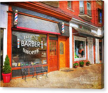 The Barber Shop Canvas Print by Paul Ward