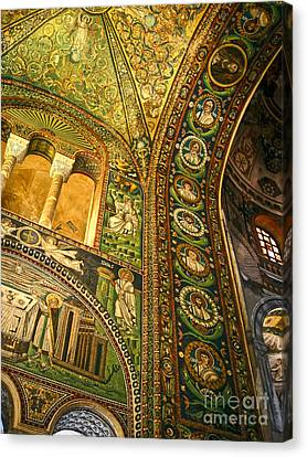The Basilica Di San Vitale In Ravenna - 03 Canvas Print by Gregory Dyer
