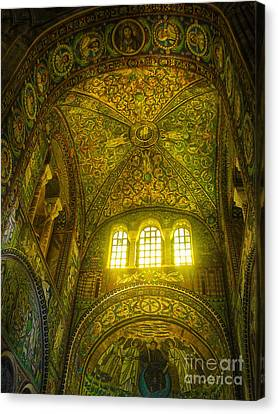 The Basilica Di San Vitale In Ravenna Canvas Print by Gregory Dyer