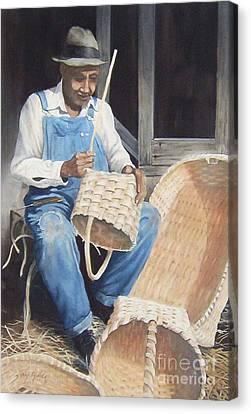 The Basket Maker ...sold  Canvas Print