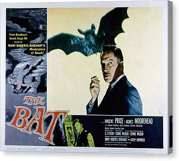 The Bat, Vincent Price, 1959 Canvas Print by Everett