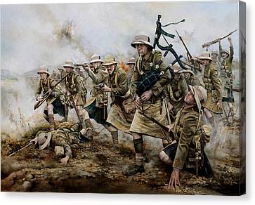 The Battle Of Achi Baba 1915 Canvas Print by Chris Collingwood