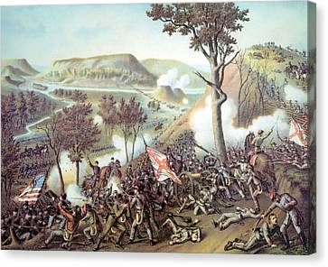 The Battle Of Missionary Ridge Canvas Print by Everett