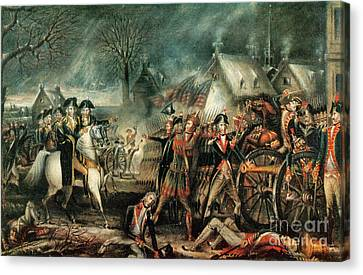 The Battle Of Trenton 1776 Canvas Print by Photo Researchers
