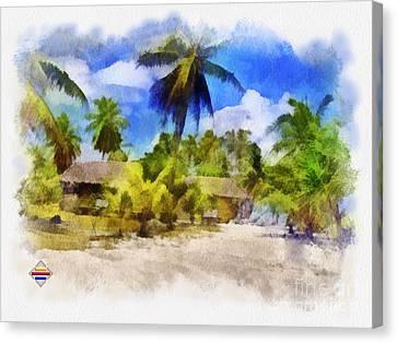 The Beach 01 Canvas Print by Vidka Art