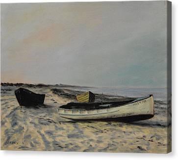 The Beach At Plymouth Canvas Print