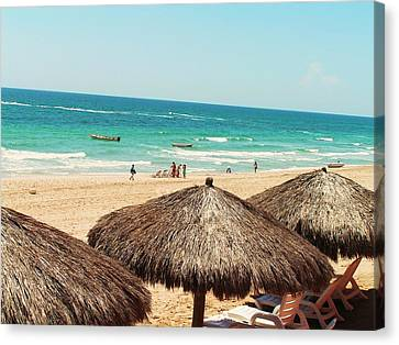 Canvas Print featuring the photograph The Beach At Puerto Pensasco by Rand Swift