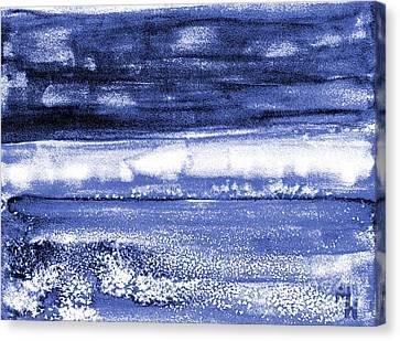 Abstract Digital Canvas Print - The Beach by Marsha Heiken