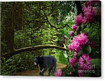 Grist Mill Canvas Print - The Bear Went Over The Mountain by Lianne Schneider