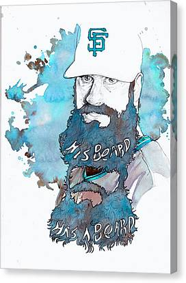 The Beard Canvas Print by Michael  Pattison