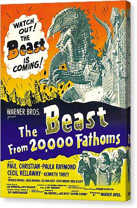 The Beast From 20,000 Fathoms, Advance Canvas Print by Everett