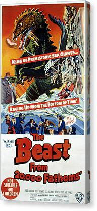The Beast From 20,000 Fathoms, The, 1953 Canvas Print