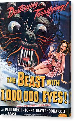 The Beast With A Million Eyes, 1955 Canvas Print