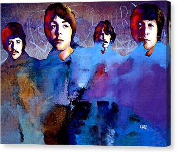 The Beatles Canvas Print by Carvil