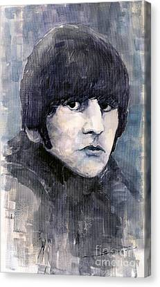 The Beatles Ringo Starr Canvas Print by Yuriy  Shevchuk