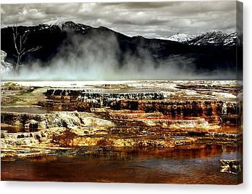 The Beauty Of Yellowstone Canvas Print by Ellen Heaverlo