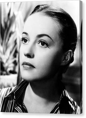 The Bed, Jeanne Moreau, 1954 Canvas Print