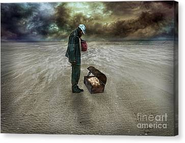 The Beggar Canvas Print by Eugene James