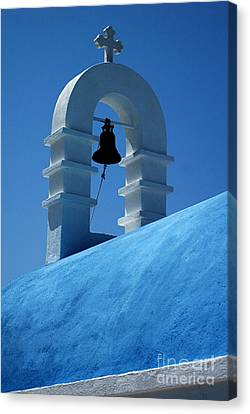 The Bell Tower In Mykonos Canvas Print by Vivian Christopher