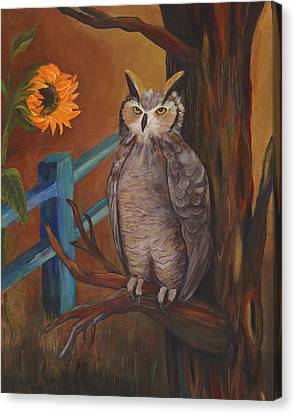 The Better Life- Owl Canvas Print by Debbie McCulley