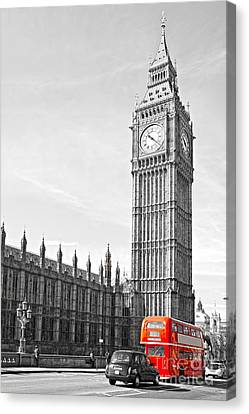 Canvas Print featuring the photograph The Big Ben - London by Luciano Mortula