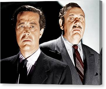 The Big Clock, From Left Ray Milland Canvas Print by Everett