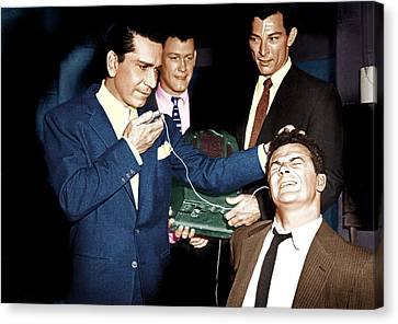 The Big Combo, From Left Richard Conte Canvas Print by Everett