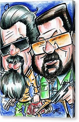 Jeff Bridges Canvas Print - The Big Lebowski by Big Mike Roate