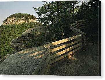 The Big Pinnacle Of Pilot Mountain. The Canvas Print by Raymond Gehman
