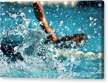 The Big Splash Canvas Print by Stephani JeauxDeVine