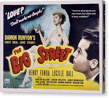 The Big Street, Lucille Ball, Henry Canvas Print by Everett