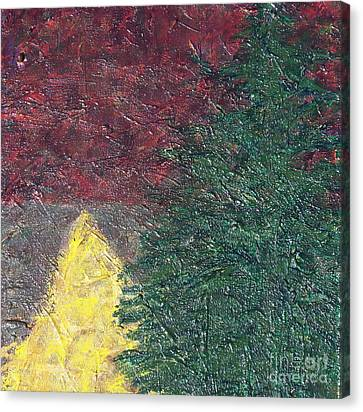 The Big Tree And The Yellow Path Canvas Print
