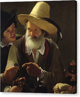 The Bird Seller Canvas Print