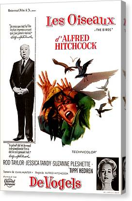 The Birds, Aka Alfred Hitchcocks The Canvas Print by Everett