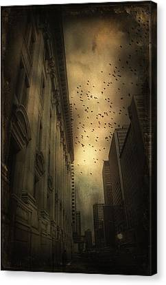 The Birds Canvas Print by Peter Labrosse