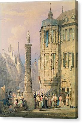 The Bishop's Palace Wurzburg Canvas Print by Samuel Prout