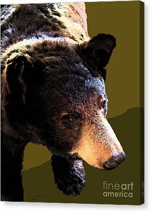 The Black Bear Canvas Print by Tammy Ishmael - Eizman